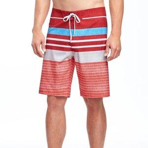 Old Navy Striped Built-In Flex Board Shorts (10'')